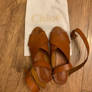 Chloe brown leather sandals